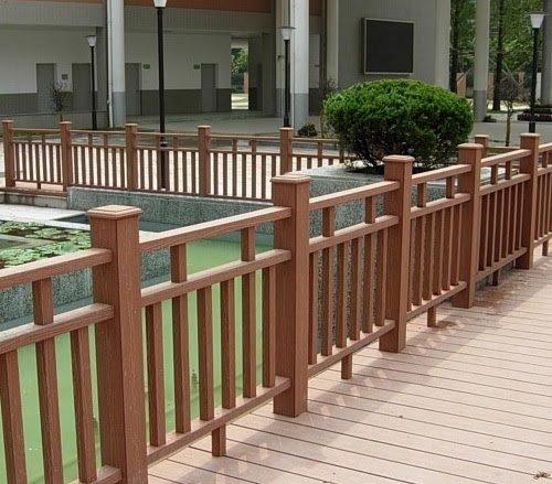 hàng rào gỗ nhựa ngoài trời chất lượng